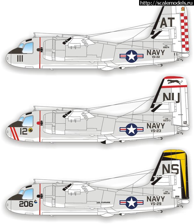 Декаль 1/48 US Navy S-2E Trackers от Caracal Models  Закрыть окно