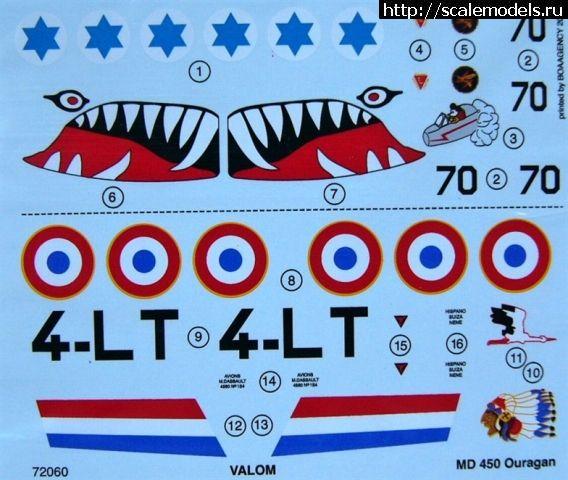 Новинка Valom: 1/72 Dassault MD 450 Ouragan (IAF) Закрыть окно
