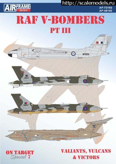 Новинка от AIRFrame Decals: 1/72 RAF V-Bombers Part 3 Закрыть окно