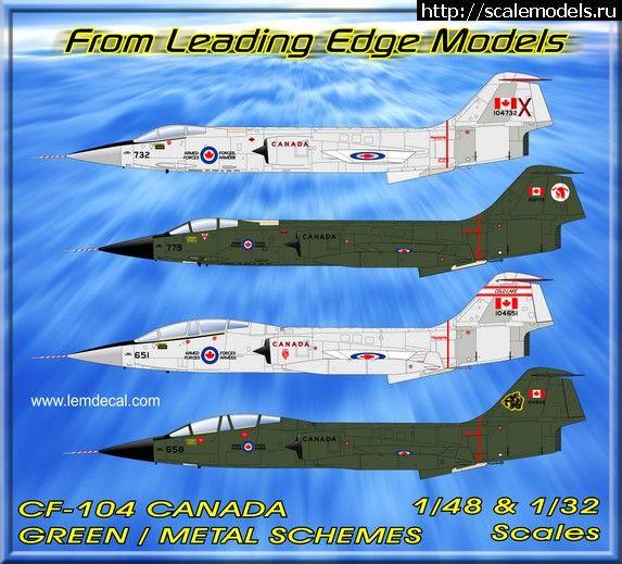 Новинка Leading Edge Models: декаль 1/32 и 1/48 на CF-104 Starfighter Закрыть окно