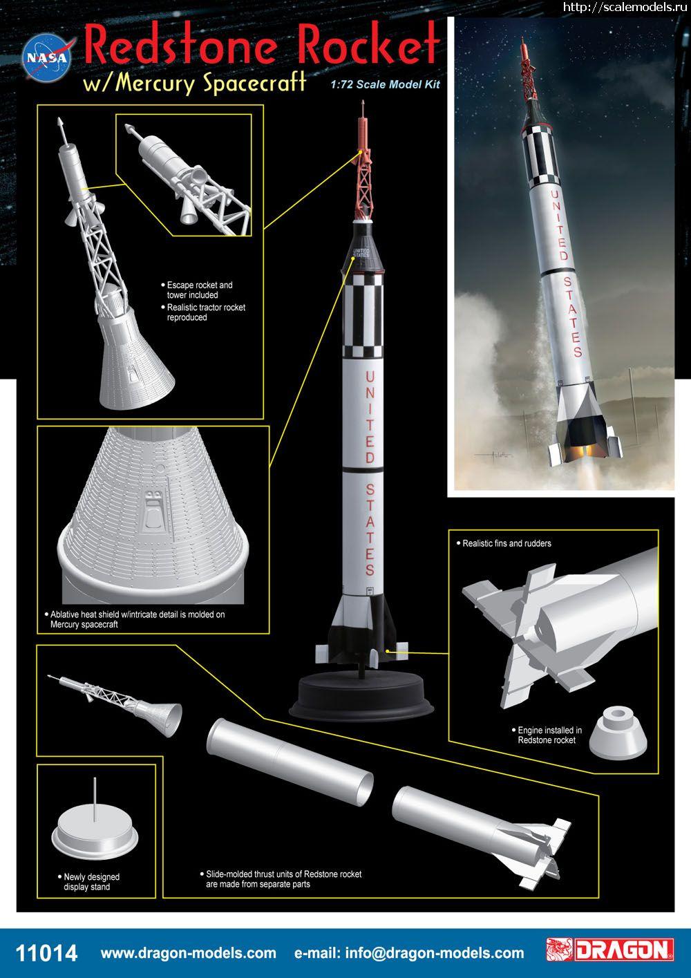 Новинка Dragon: 1/72 Redstone Rocket w/Mercury Spacecraft  Закрыть окно