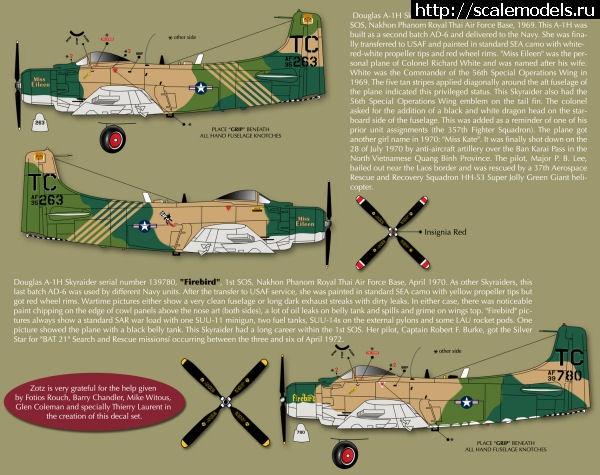 Новинка Zotz Decals: декаль 1/32 A-1H/J Skyraider in Vietnam War Закрыть окно