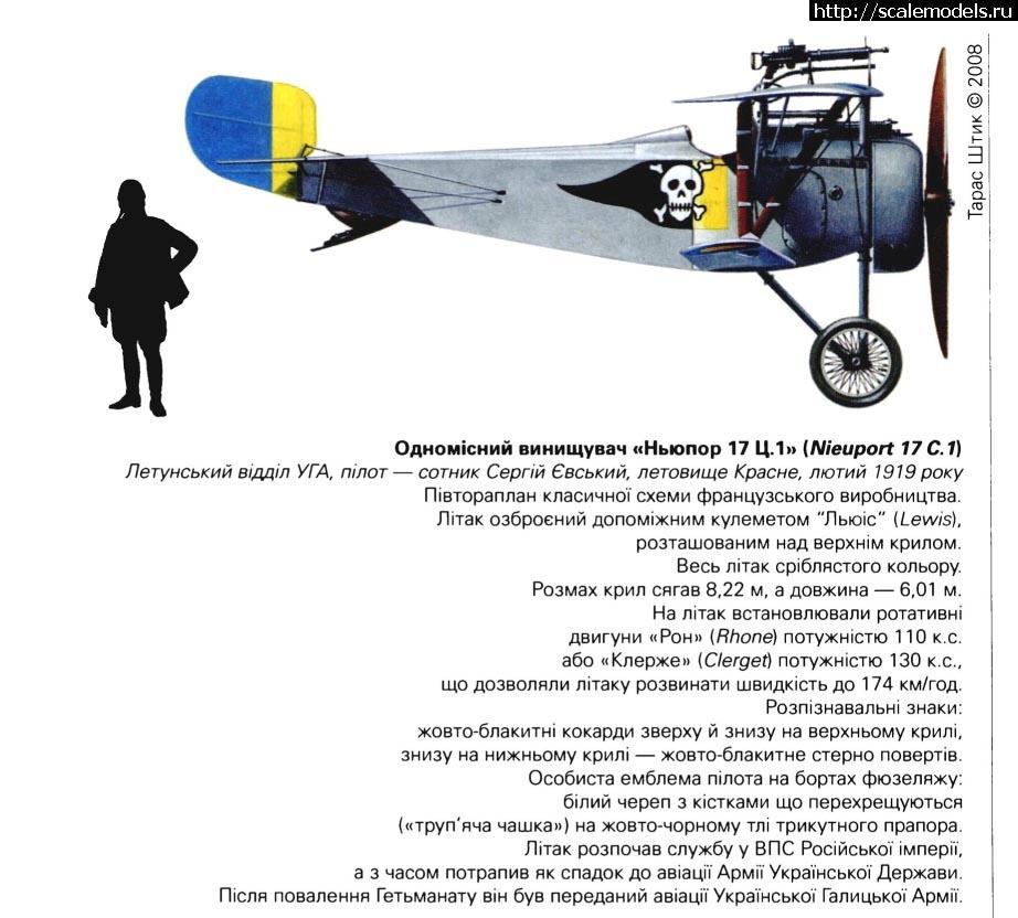 ЖОВТО-БЛАКИТНІ - 1/72-Nieuport 17 C1? УГА 1919г. ГОТОВО. Закрыть окно