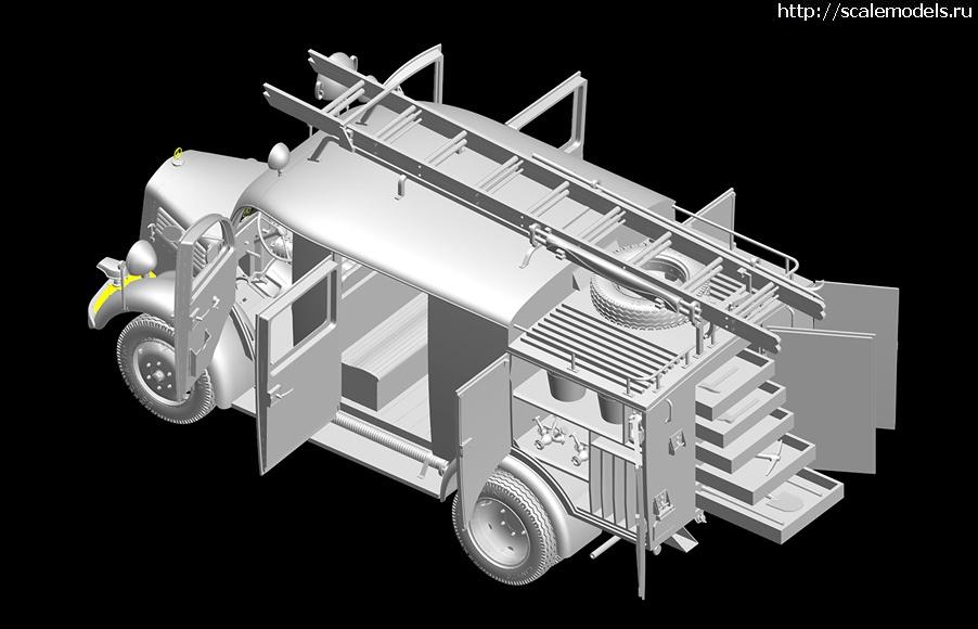 Новинка MiniArt: 1/35 немецкий пожарный автомобиль L1500S LF8 Закрыть окно