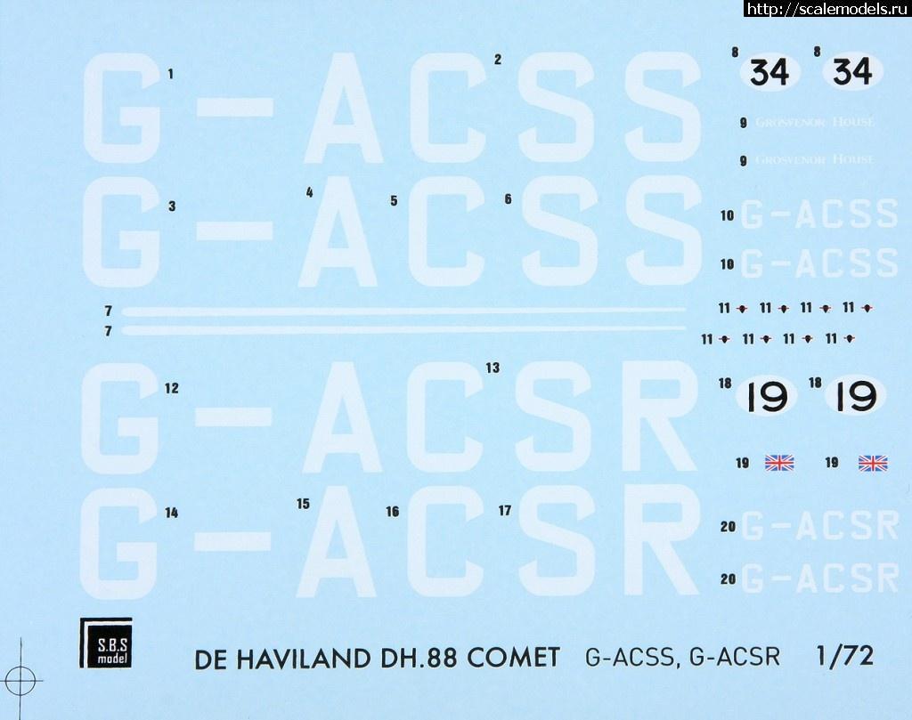 Новинка от SBS Models 1/72 DH.88 Comet Закрыть окно